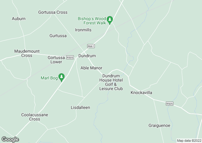 Map for Deer Lodge, Dundrum, Co Tipperary