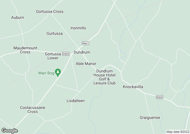Map for Deer Lodge, Dundrum, Co Tipperary, E34YH10