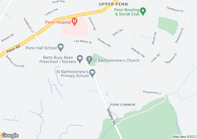 Map for 1 Mount Pleasant, Pennwood Lane, Penn Common, Wolverhampton, West Midlands