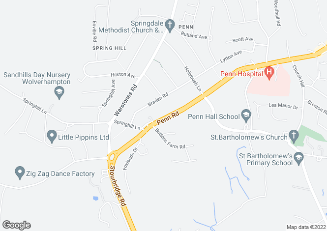 Map for Penn Road, Springhill
