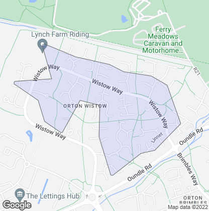 Map of property in Orton Wistow