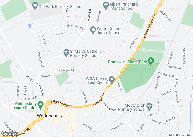 Map for Vicarage Road, WEDNESBURY, West Midlands