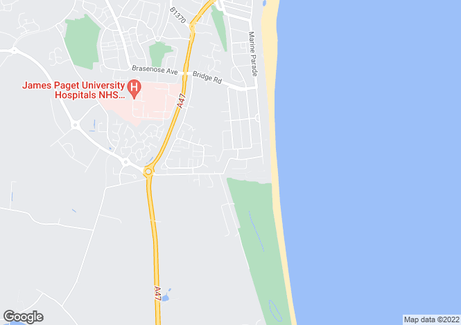 Map for Yallop Avenue, Gorleston, Great Yarmouth NR31