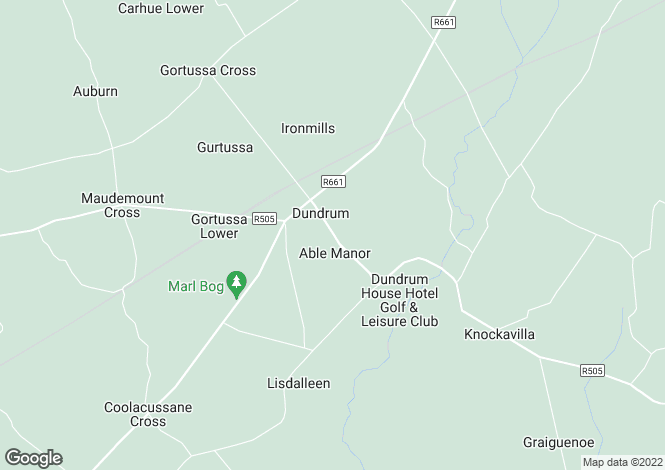 Map for Southdene, Dundrum, Co. Tipperary