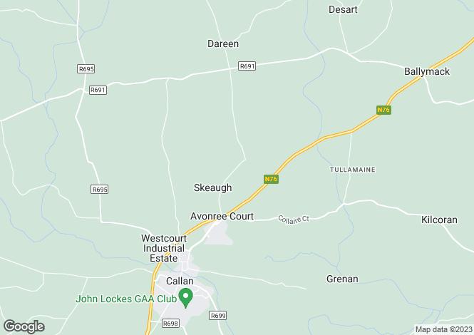 Map for Castletobin, Callan, Kilkenny