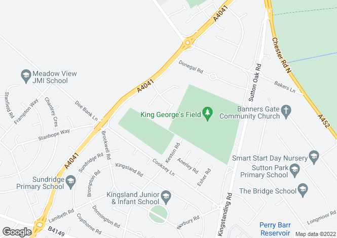 Map for Kingswood Drive,Streetly,Sutton Coldfield