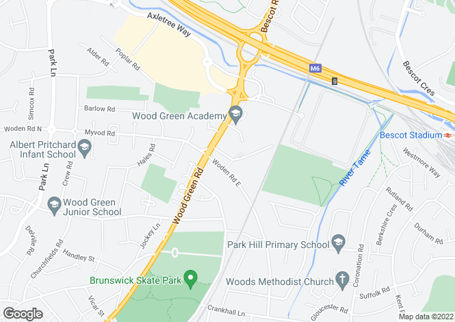 Map for St. Pauls Road,