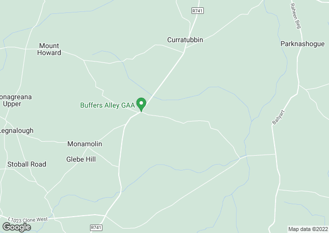 Map for Ballinastraw Lower, Ballycanew, Gorey, Co. Wexford