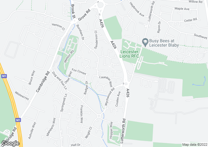 Map for Cannam Close, Whetstone, Leicester LE8