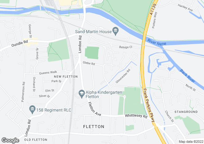 Map for GLEBE ROAD, FLETTON
