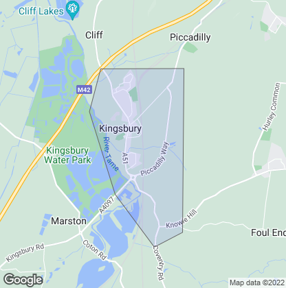 Map of property in Kingsbury