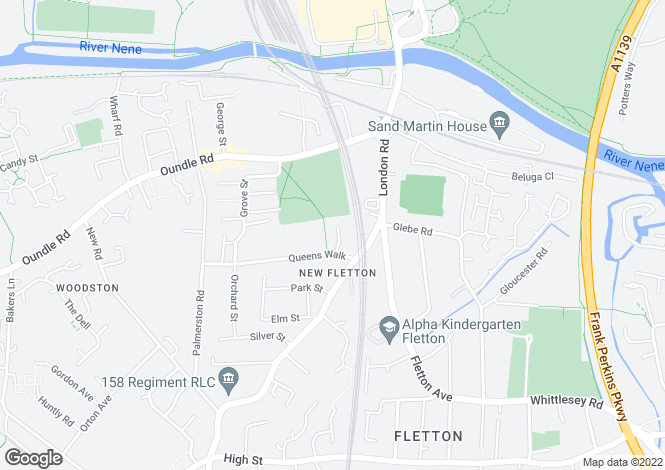 Map for Regal Place, Fletton,