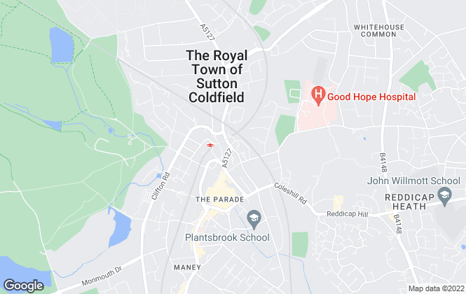Map for Aston Knowles, Sutton Coldfield