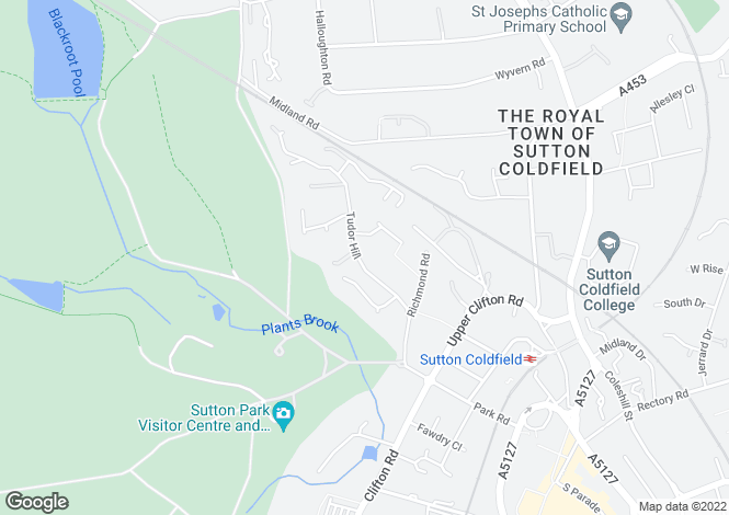 Map for Tudor Hill, Sutton Coldfield, B73 6BH