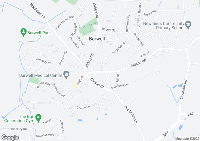 Map for Shilton Road, Barwell, Nr Hinckley, LE9