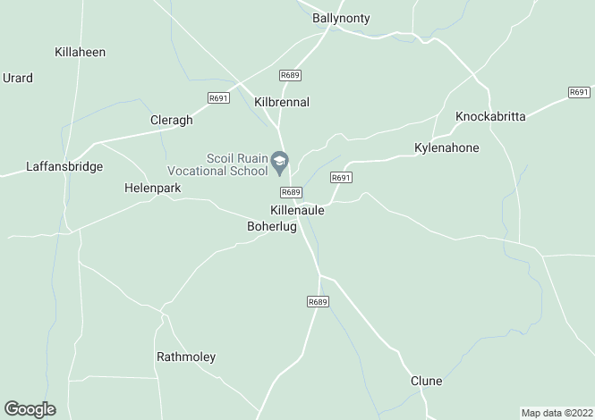 Map for Cattaganstown, Killenaule, Tipperary