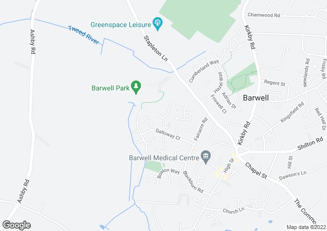 Map for 33, Kerry Close, Barwell, LEICESTER
