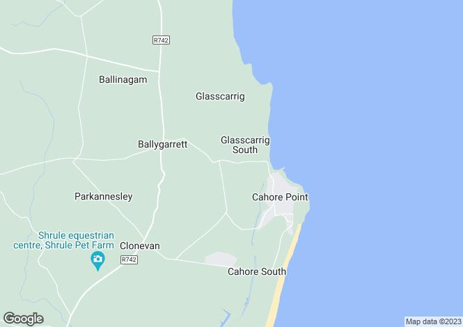 Map for Ballygarrett, Wexford