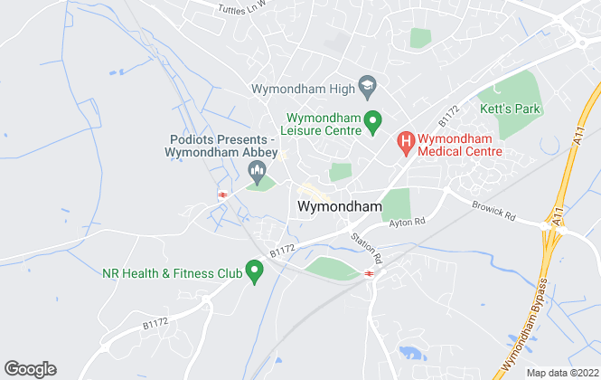 Map for Moneylettings, Wymondham