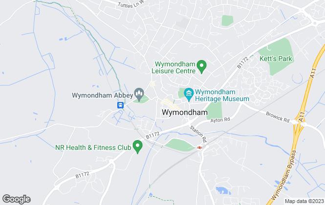 Map for Moneylettings, Wymondham