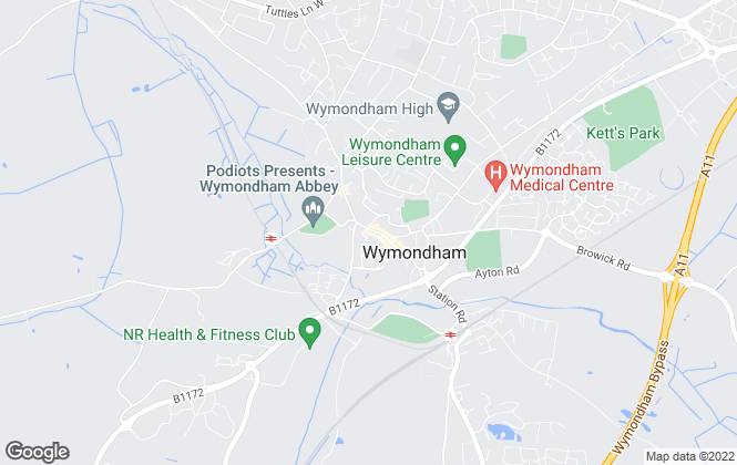 Map for hammondlee, Wymondham,