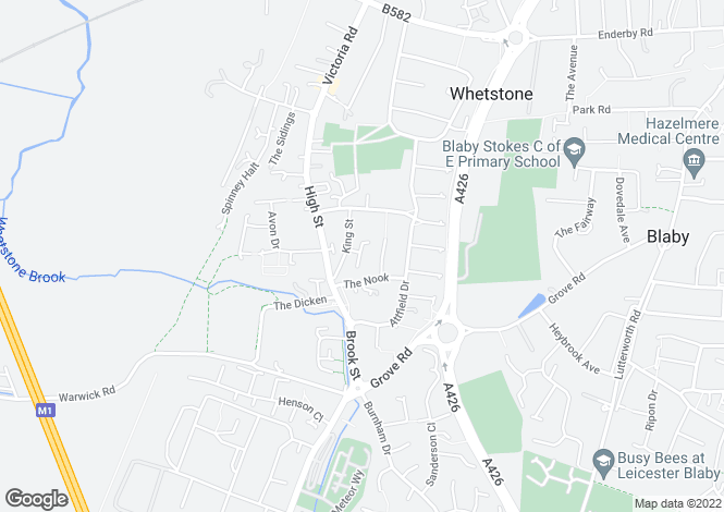 Map for Shenton Close, Whetstone