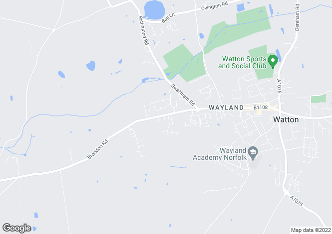 Map for Brandon Road, Brandon Road   Watton, IP25