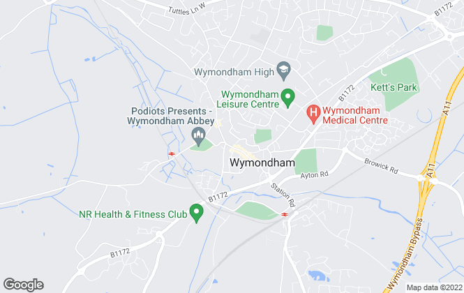 Map for William H. Brown, Wymondham