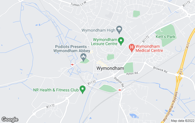 Map for TW Gaze, Wymondham - Sales