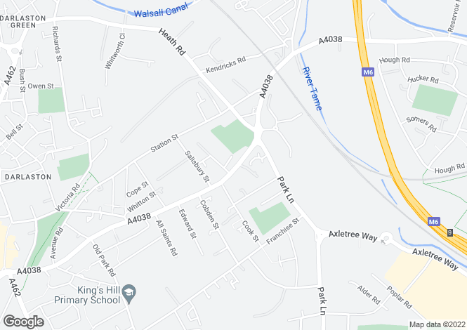 Map for Walsall Road, WEDNESBURY, West Midlands