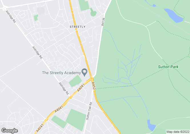 Map for THORNHILL ROAD, STREETLY, SUTTON COLDFIELD