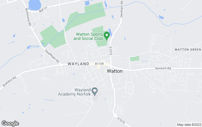 Map for Belvoir, Watton