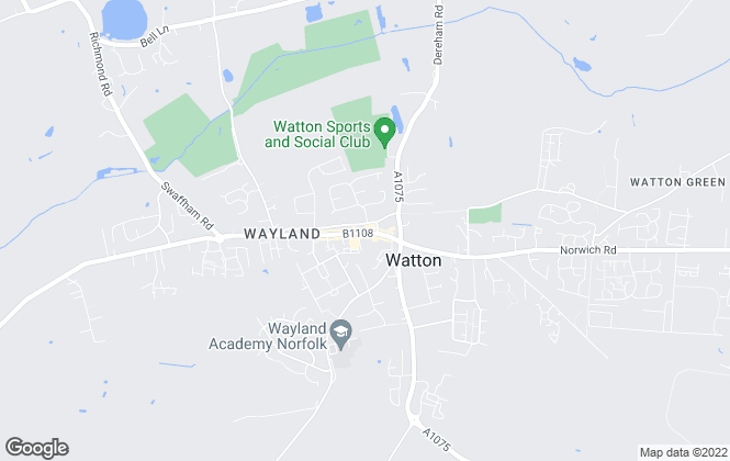 Map for Abbotts, Watton