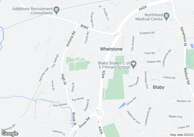 Map for Mill Hill Close, Whetstone