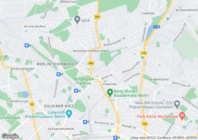Map for Pankow, Berlin, Germany