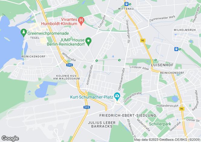 Map for Reinickendorf, Berlin