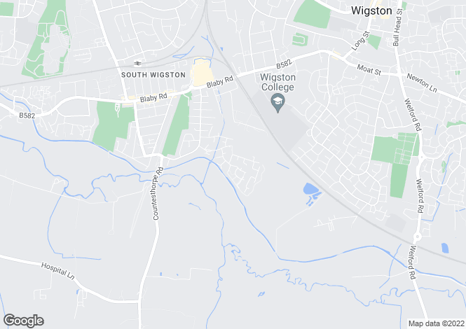 Map for Pochins Bridge Road, South Wigston