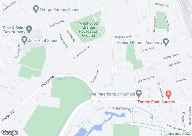 Map for Thorpe Avenue, Peterborough