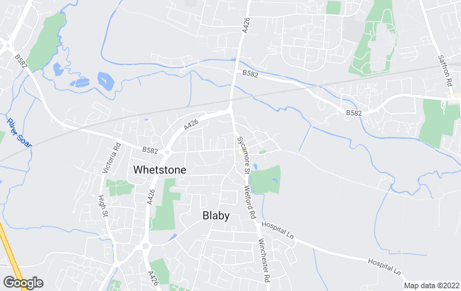 Map for YOUR MOVE, Blaby