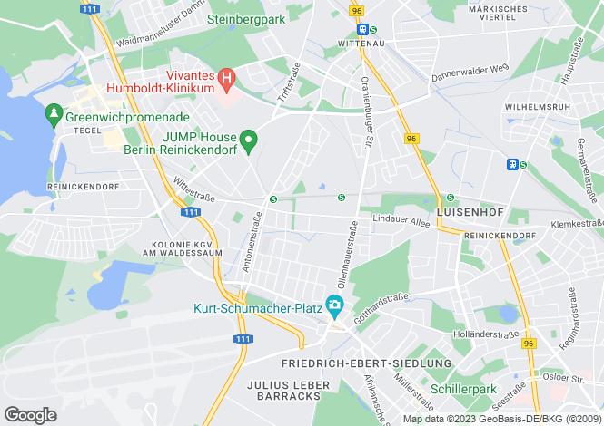 Map for Waldstr. 31, Berlin, Reinickendorf (Berlin), Germany