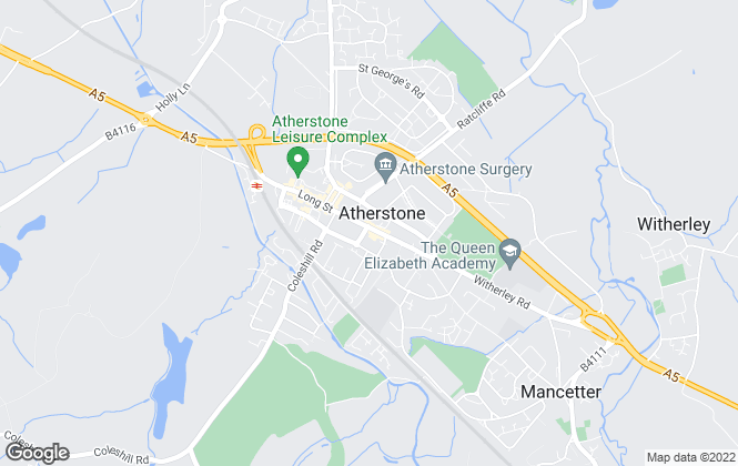 Map for Mark Webster & Company, Atherstone
