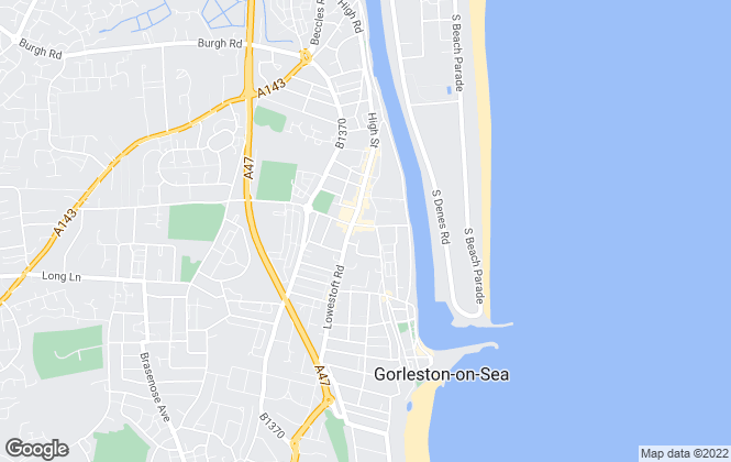 Map for The Property People, Gorleston