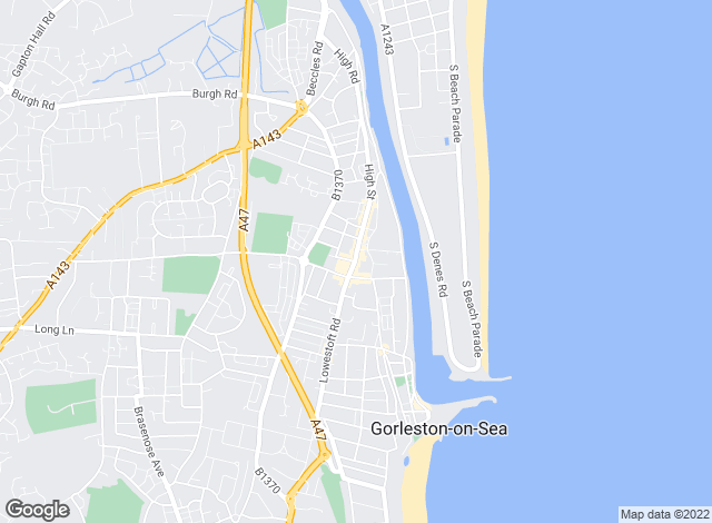 Map for Aldreds, Gorleston on Sea