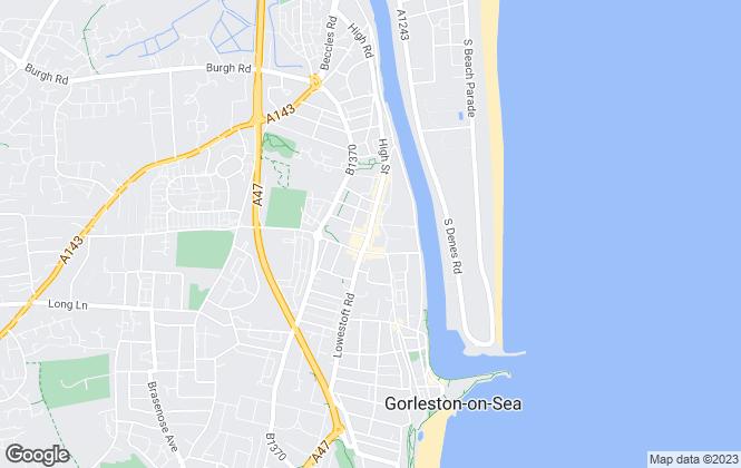 Map for Aldreds, Gorleston on Sea