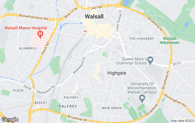 Map for K2 Properties, Walsall