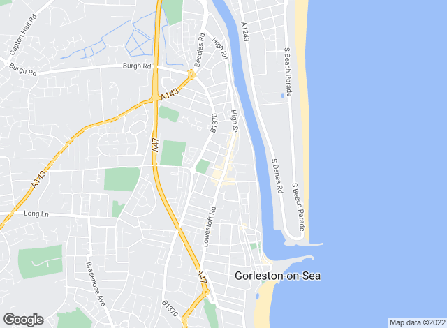 Map for Abbotts, Gorleston