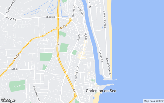 Map for William H. Brown, Gorleston