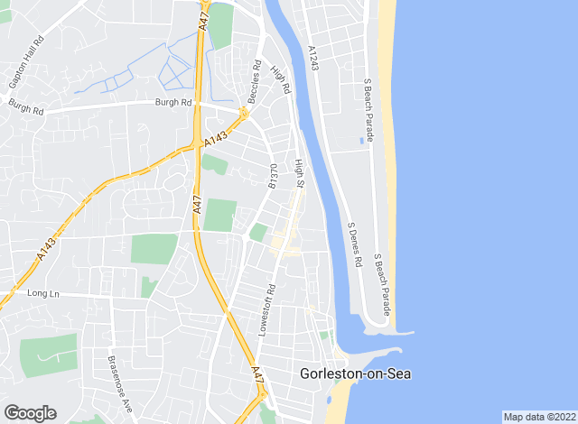 Map for YOUR MOVE Oliver James, Gorleston