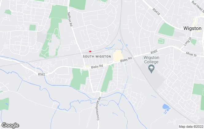 Map for Hunters, Wigston