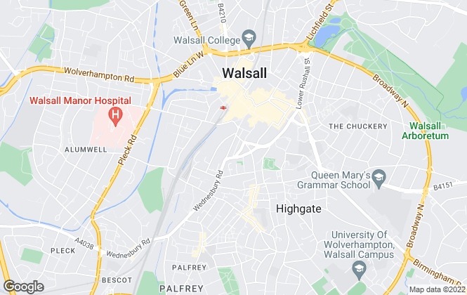 Map for Wadsworth & Co. Est 1928, Walsall